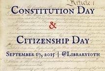 "#ConstitutionDay and #CitizenshipDay / ""Constitution Day and Citizenship Day is observed each year on September 17 to commemorate the signing of the Constitution on September 17, 1787, and 'recognize all who, by coming of age or by naturalization, have become citizens.'"" / by Library 10th"