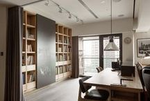 bookshelves & offices