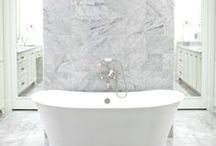 Master bath / master bathroom, rain shower, free-standing tub