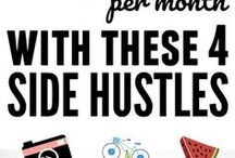 Side Hustle | Side Hustle Ideas / Maybe you are not quite ready to start a business or maybe you have no interest in start a business but you would liek to make some extra money on the side, here you will find a list of side hustles/ ways to make extra cash.