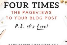 Blog Traffic / Having a blog is one thing but getting traffic is another, learn the different ways to attract people to your blog and bring in traffic from Google, Pinterest and other sources.
