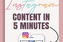 Instagram Marketing For Bloggers / Learn how to create content for Instagram, attract followers and build your brand or audience.