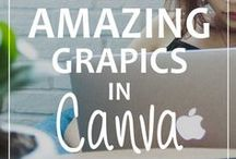 Canva Tutorials For Bloggers / Learn how to create images on Canva to use for your blog and Pinterest.