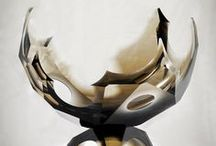 Art Glass , Design and Sculpture , / Portfolio Filip Hortenský melted sculpture cut glass design