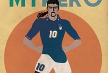 My_Hero ⚽️ / My heroes were real and went down the field! Series illustrated by Riccardo Di Virgilio Mambella