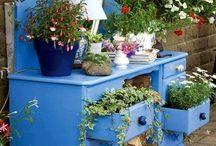 Garden flower art