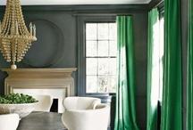 Green / interior design color inspiration / by Jill Croka