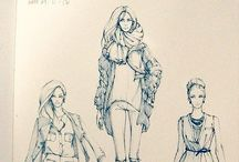 Fashion Illustrations. / by Chris Howrd