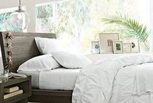 Home: Master Bedroom / Beautiful spaces for sleep and solace for me and my main man.