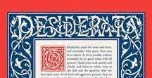 Desiderata poem / Desiderata poem typography posters
