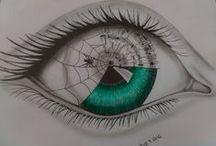 Kresby a malby - tužka - tempera - olej / kresba tužkou a malba, volnočasová aktivita a zábava a neustálé posouvání hranice - pencil drawing, hobby in my free time