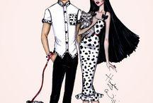 couples fashion illustration ❣️