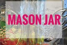 Mason Jar Ideas / I love mason jars, and there are so many ways to organize your life and home. Easy DIY projects to solve everyday problems around the house with mason jars. Plus, mason jars make great gifts and food storage.