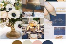 Svatba barvy dekorace