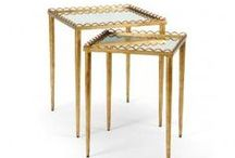 The The Well Appointed End Tables / End tables, side tables Curated by trendsetter Melissa Hawks of The Well Appointed House www.wellappointedhouse.com / by The Well Appointed House by Melissa Hawks
