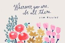 Inspiration / Quotes and blog posts that inspire me.