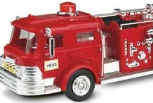Hess Truck Collection / Collecting Hess toy trucks has become an American holiday tradition. Each year since 1964 a new model has been introduced just in time for the busiest gift season. We've pinned some classic and contemporary Hess truck favorites and vintage Hess ads for you to enjoy and share!