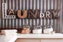 My fab laundry room...  / When I redo the laundry room... it will be fabulous... no white walls... and drab cabinets. :)  / by Kristen Davis