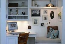 Home or small office ideas / Interesting inspiration for in detail office storage!