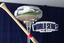 World Series - 2014 / We had the pleasure of being part of the World Series 2014 here in Kansas City. With custom pillows, graphics, arrangements, and beautiful decor, we decked out the ticketing office, VIP parties, and private suites.