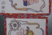 color book quilt / instructions and printable pages for making hand colored quilt blocks / by MaryBeth Jackson