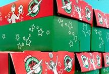 Christmas Shoe Boxes / Ideals For Children Christmas Boxes / by Teresa Beaver