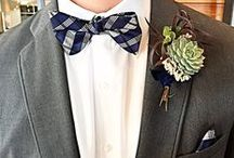 Boutonnieres / A boutonniere should compliment the brides bouquet
