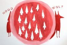 """Lil' Red / """"Nice is different than Good."""" Little Red Riding Hood   / by Dana Dewdrop"""