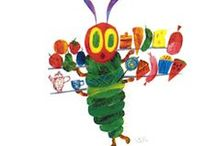 """Very Hungry Caterpillar / """"He built a small house, called a cocoon, around himself. He stayed inside for more than two weeks. Then he nibbled a hole in the cocoon, pushed his way out and...   he was a beautiful butterfly!""""  ― Eric Carle, The Very Hungry Caterpillar"""