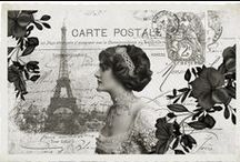 Vintage - Postcards & postage stamps