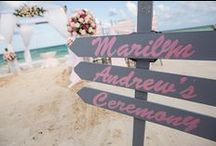 Beach Wedding Decoration & Favors / From the ceremony to the reception, these are some ideas for your beach wedding | Beach wedding decoration, wedding ceremony, wedding reception, Cancun wedding, simple, elegant wedding, tips, arch, Wedding favors, wedding gifts, bridal gift, gift for guests, souvenirs