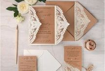Wedding Invitations Ideas / Laser cut or classic print, here you can find ideas for your unique wedding invitation | luxury design, elegant, font, material