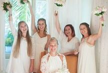 Bridal Party / bride, groom, bridesmaids, groomsmen, wedding party, ceremony, reception, decoration, accessories, dress, suit, robes, gifts, fun photo session, wedding portrait