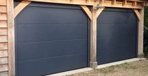 Garage doors / A large range of insulated & non insulated garage doors. Be unique and make your garage door a statement by adding stainless steel appliques or lighting.