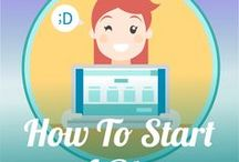 How To Start a Blog / Inspiration for beginning bloggers to design and maintain a more profitable blog.