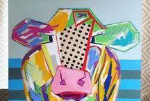 Studio Vibes / Art studio inspiration, art inspiration, Paintings, art, creative art, whimsical art, whimsical paintings, colorful art, art for sale, buy art, art pieces, printable art, painting