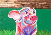 Online Shop - Whimsical Art / Paintings, art, creative art, whimsical art, whimsical paintings, colorful art, art inspiration, animal paintings
