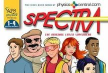 Spectra: The Comic Book / Spectra is the comic book series that I've illustrated for PhysicsCentral.com. The popular Spectra comic book series series follows her adventures with her friends while attending the fictional Nikola Tesla Junior High School.  have created 6 issues and each comic book is available for purchase. / by Kerry G. Johnson Illustrations ...