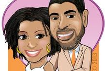Wedding caricatures / A selection of wedding-themed and save the date caricatures by Kerry G. Johnson / by Kerry G. Johnson Illustrations ...