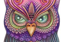 Art: Zentangle / My Mom bought me Zentangle coloring books when I was little. Those and my fruit scented markers were my favorite things as a kid.