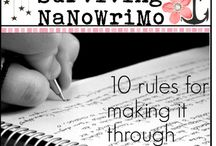 NaNoWriMo / National Novel Writing Month. Tips and ideas for #NaNoWriMo in November