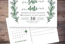 Save the Date invitations / Customized Save the Date Invitations that you can print yourself.