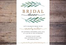 Bridal Shower Invitations / Customized bridal shower invitations that you can print yourself.