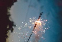 Sparklers / Sparklers, shooting at night