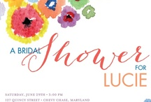 Lucie's Bridal Shower / Ideas for tapas and decorations for Lucie's bridal shower on June 29 from 3-5 pm at Tish's.   Tish is making sangria and it's a tapas theme. Colorful and happy!