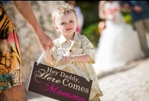 Children in Weddings / Ways to include children in wedding ceremonies: friends and family members or children of the bridal couple.