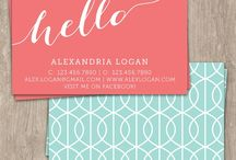 Business Card Designs / by Taylor Desens