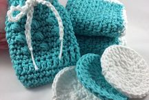 Handmade Gifts-Etsy / Crochet Spa Valentine's Day Gifts for Her, Gift for Mom,Mother's Day, Body Scrubby, Soap Saver, Reusable Cotton Makeup Removers, Spa Gift