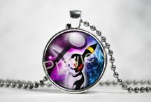 Eevee evolution necklaces / Eevee evolution pendants nad necklaces