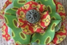 Fabric Flowers tutorials / Flowers in everyday life